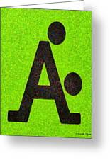 The A With Style Lime - Pa Greeting Card