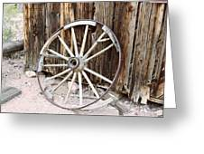 The Abandoned Wheel  Greeting Card