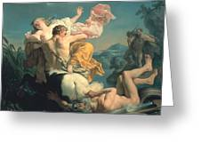 The Abduction Of Deianeira By The Centaur Nessus Greeting Card