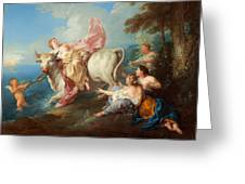 The Abduction Of Europa Greeting Card