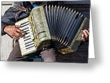 The Accordionist Greeting Card