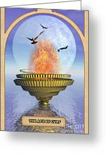 The Ace Of Cups Greeting Card by John Edwards