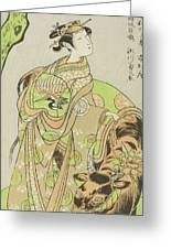 The Actor Segawa Kikunojo II As The Courtesan Maizuru In The Play Furisode Kisaragi Soga Greeting Card