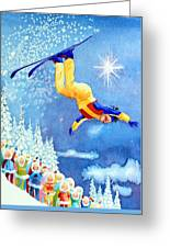 The Aerial Skier 18 Greeting Card
