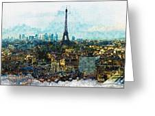 The Aesthetic Beauty Of Paris Tranquil Landscape Greeting Card