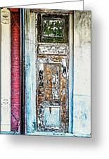 The Aged Door Greeting Card