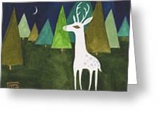 The Albino Deer Greeting Card