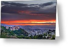 The Alhambra And Granada City Greeting Card