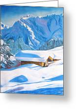 The Alpine Hut Greeting Card