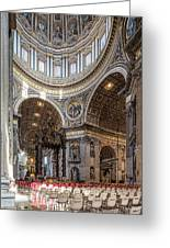 The Altar And Dome In St Peter's Basilica Greeting Card