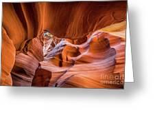 The Amazing Antelope Slot Canyons In Arizona, Usa Greeting Card