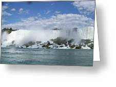 The American Falls At Niagra Greeting Card
