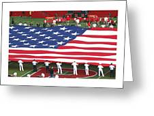 The American Flag Greeting Card by Allen Beatty