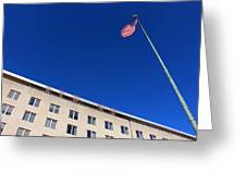 The American Flag At The United States Department Of State Greeting Card