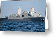 The Amphibious Transport Dock Ship Uss Greeting Card