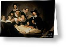 The Anatomy Lesson Of Doctor Nicolaes Tulp Greeting Card