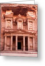 The Ancient Treasury Petra Greeting Card