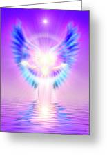 The Angel Of Divine Protection Greeting Card