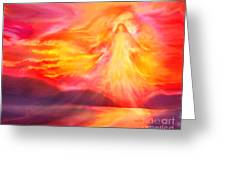 The Angel Of Protection Greeting Card