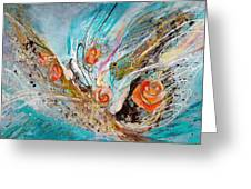 The Angel Wings #10. The Five Roses Greeting Card