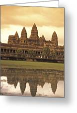 The Angkor Wat Temples In Siem Reap Greeting Card
