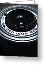 The Angle Of The Lens Greeting Card