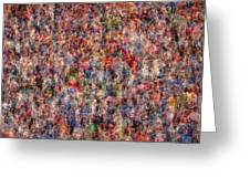 The Anonymous Croud Greeting Card by Denis Bouchard