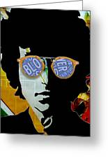 The Answer Is Blowin' In The Wind. Bob Dylan Greeting Card
