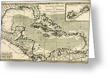 The Antilles And The Gulf Of Mexico Greeting Card by Guillaume Raynal
