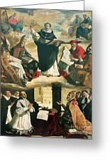 The Apotheosis Of Saint Thomas Aquinas Greeting Card by Francisco de Zurbaran
