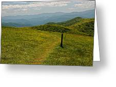 The Appalachian Trail Crossing Max Patch Greeting Card