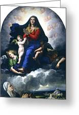 The Apparition Of The Virgin Greeting Card