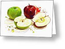The Apple Focus Greeting Card