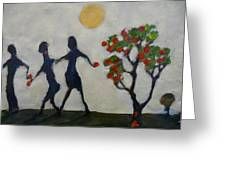 The Apple Thieves Greeting Card