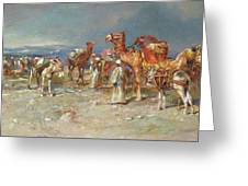 The Arab Caravan   Greeting Card