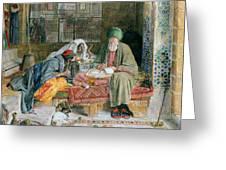 The Arab Scribe Cairo Greeting Card