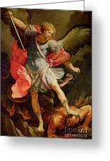 The Archangel Michael Defeating Satan Greeting Card