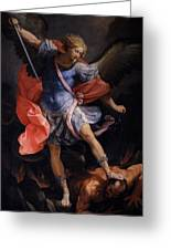 The Archangel Michael Defeating Satan Greeting Card