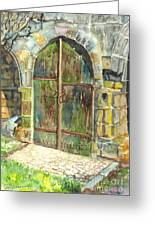 The Archways Of Bandouille 12th Century Monastery Sevres France Greeting Card