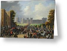 The Arrival Of Louis-philippe Greeting Card