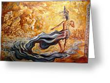 The Arrival Of The Goddess Of Consciousness Greeting Card