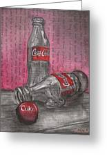 The Art Of Coca Cola Greeting Card
