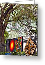 The Art Of Jackson Square Greeting Card