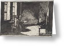 The Artist In His Mother's Room, Danzig Greeting Card