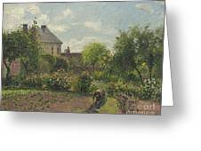 The Artist's Garden At Eragny Greeting Card