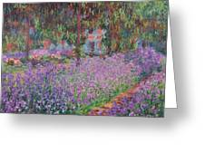 The Artists Garden At Giverny Greeting Card by Claude Monet
