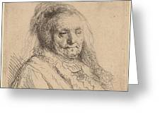 The Artist's Mother, Head And Bust Greeting Card
