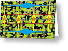 The Arts Of Textile Designs #3 Greeting Card