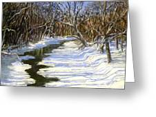 The Assabet River In Winter Greeting Card