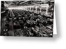 The Assembly Plant Of The Bell Aircraft Corporation In 1944 Greeting Card